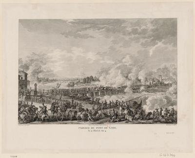 Passage du pont de Lodi le 21 floréal an 4 : [estampe]