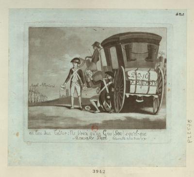 Au lieu d'un trésor : ne voici qu'un gros (sou) et qu'el-que mauvases piece trouvaille du 21 juin 1791 : [estampe]