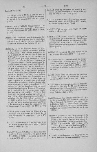 Tome 71 : Table alphabétique et analytique des séances de la Convention nationale du 20 septembre 1792 au 10 août 1793 (1ère partie : de A à K) - page 93