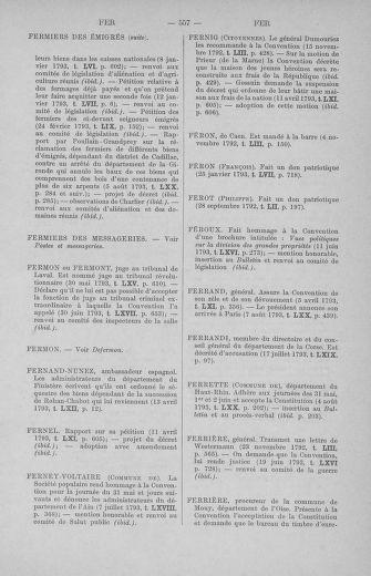 Tome 71 : Table alphabétique et analytique des séances de la Convention nationale du 20 septembre 1792 au 10 août 1793 (1ère partie : de A à K) - page 557