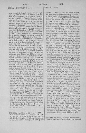 Tome 71 : Table alphabétique et analytique des séances de la Convention nationale du 20 septembre 1792 au 10 août 1793 (1ère partie : de A à K) - page 599