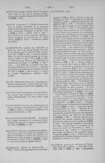 Tome 71 : Table alphabétique et analytique des séances de la Convention nationale du 20 septembre 1792 au 10 août 1793 (1ère partie : de A à K) - page 663