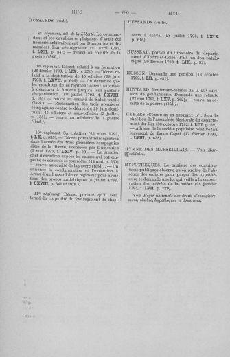 Tome 71 : Table alphabétique et analytique des séances de la Convention nationale du 20 septembre 1792 au 10 août 1793 (1ère partie : de A à K) - page 680