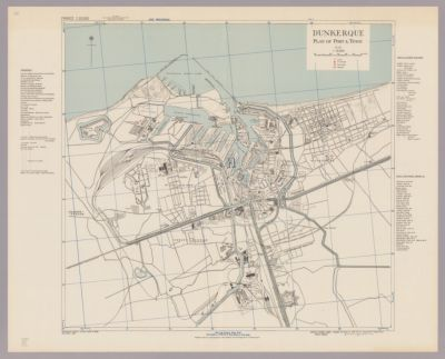 Dunkerque : plan of port & town
