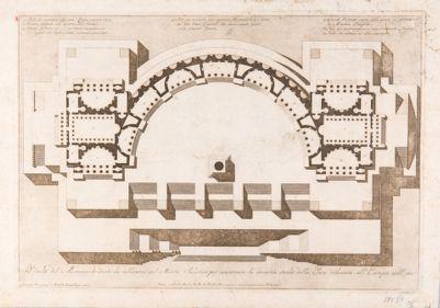 Palatino, monumento da erigersi sul Palatino per la pace del 1801, pianta