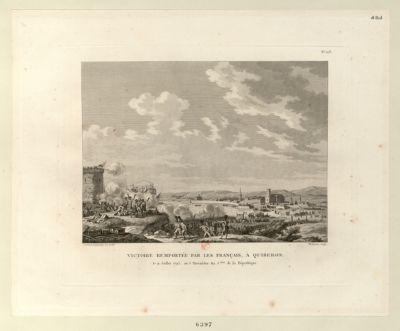 Victoire remportée par les Français, à Quiberon le 21 juillet 1795, ou 3 thermidor an 3.eme de la Republique : [estampe]