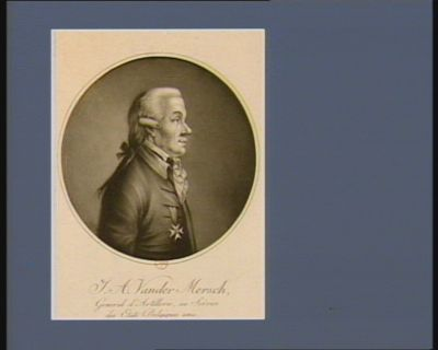 J.A. Vander Mersch general d'artillerie, au service des Etats Belgiques unis : [estampe]