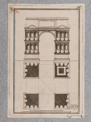 Giano del Velabro, prospetto ricostruito e pianta