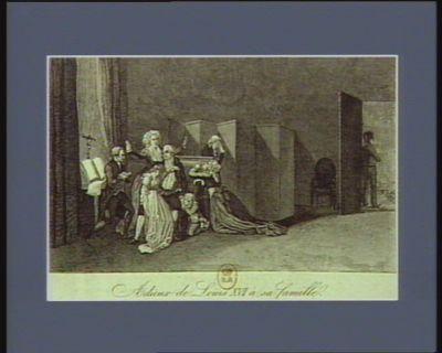 Adieux de Louis XVI à sa famille [estampe]