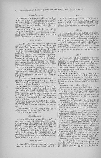 Tome 37 : Du 2 au 28 janvier 1792 - page 2