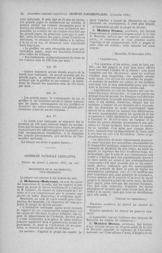 Tome 37 : Du 2 au 28 janvier 1792 - page 44