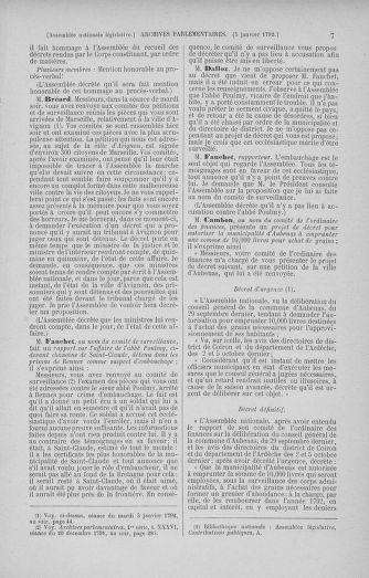 Tome 37 : Du 2 au 28 janvier 1792 - page 77
