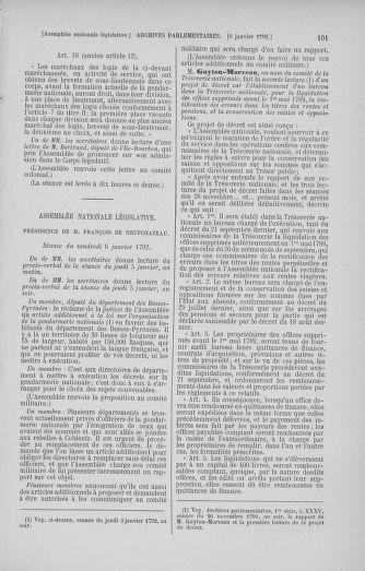Tome 37 : Du 2 au 28 janvier 1792 - page 101