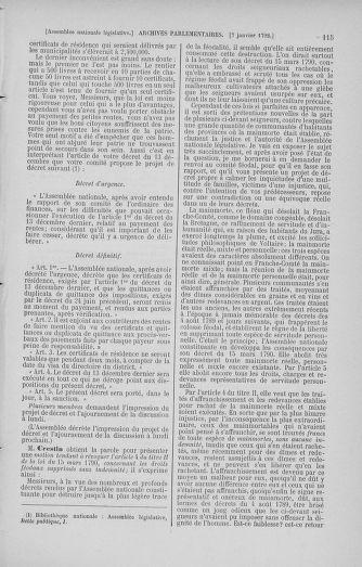 Tome 37 : Du 2 au 28 janvier 1792 - page 115