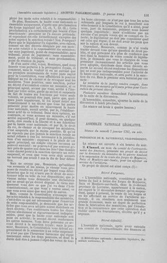 Tome 37 : Du 2 au 28 janvier 1792 - page 131