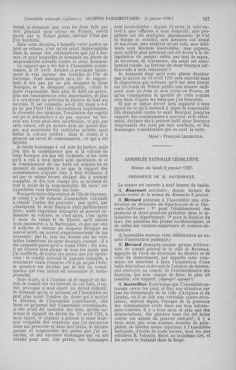 Tome 37 : Du 2 au 28 janvier 1792 - page 167