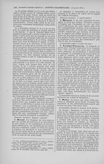 Tome 37 : Du 2 au 28 janvier 1792 - page 168