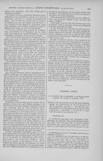 Tome 37 : Du 2 au 28 janvier 1792 - page 191