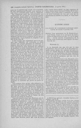 Tome 37 : Du 2 au 28 janvier 1792 - page 192