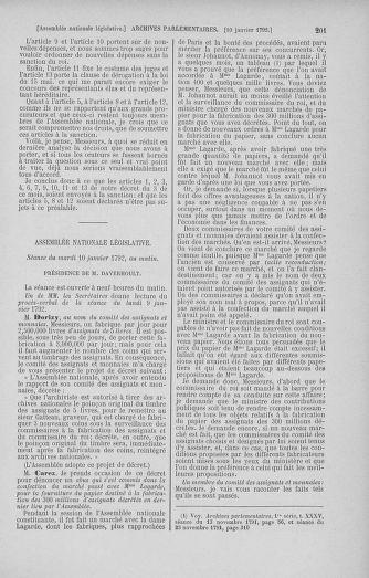 Tome 37 : Du 2 au 28 janvier 1792 - page 201