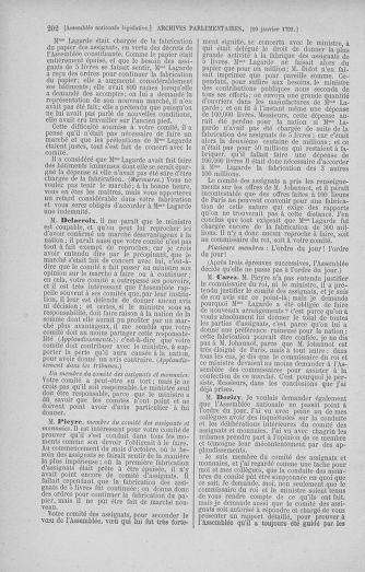 Tome 37 : Du 2 au 28 janvier 1792 - page 202