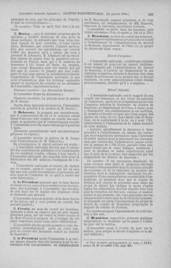Tome 37 : Du 2 au 28 janvier 1792 - page 203