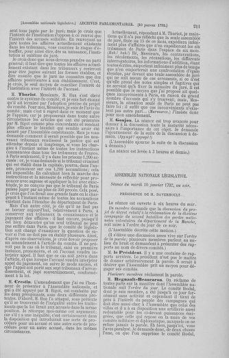 Tome 37 : Du 2 au 28 janvier 1792 - page 211