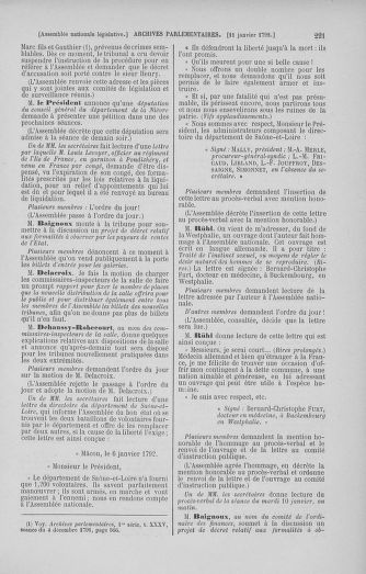 Tome 37 : Du 2 au 28 janvier 1792 - page 221
