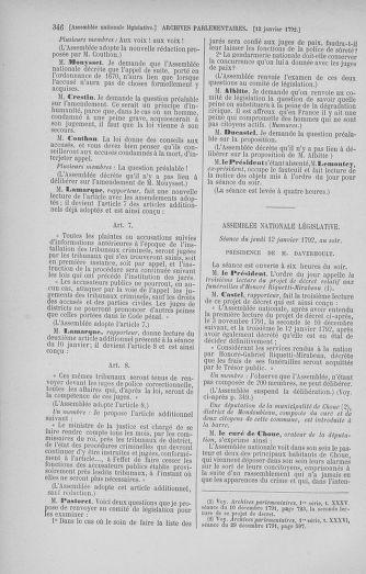 Tome 37 : Du 2 au 28 janvier 1792 - page 346