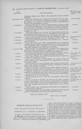 Tome 37 : Du 2 au 28 janvier 1792 - page 420
