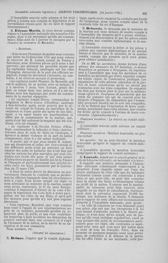 Tome 37 : Du 2 au 28 janvier 1792 - page 421