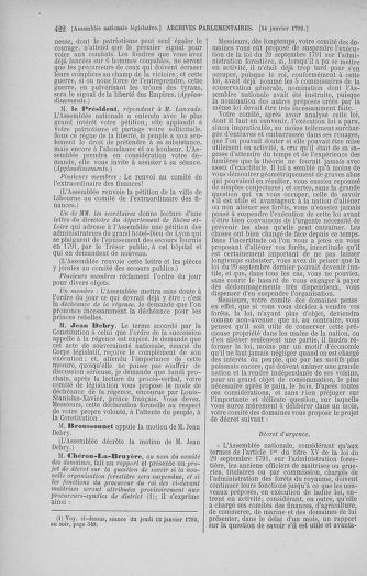 Tome 37 : Du 2 au 28 janvier 1792 - page 422