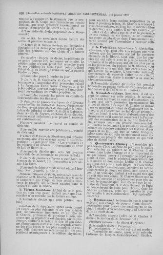 Tome 37 : Du 2 au 28 janvier 1792 - page 430