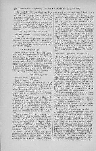 Tome 37 : Du 2 au 28 janvier 1792 - page 438