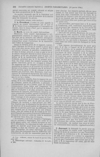 Tome 37 : Du 2 au 28 janvier 1792 - page 462