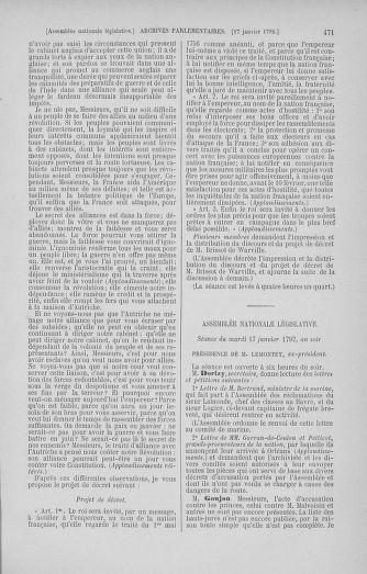 Tome 37 : Du 2 au 28 janvier 1792 - page 471