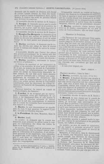 Tome 37 : Du 2 au 28 janvier 1792 - page 472
