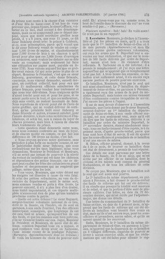 Tome 37 : Du 2 au 28 janvier 1792 - page 475