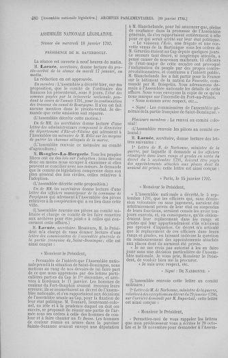 Tome 37 : Du 2 au 28 janvier 1792 - page 480