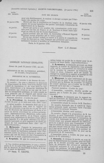 Tome 37 : Du 2 au 28 janvier 1792 - page 513