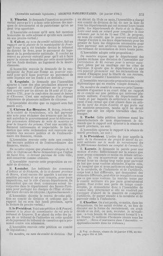 Tome 37 : Du 2 au 28 janvier 1792 - page 573