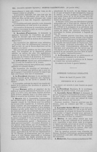 Tome 37 : Du 2 au 28 janvier 1792 - page 594