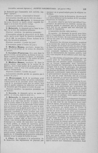 Tome 37 : Du 2 au 28 janvier 1792 - page 595