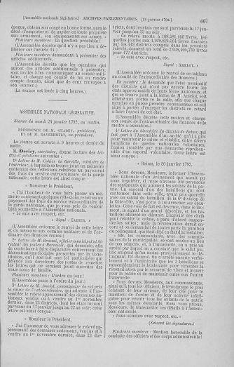 Tome 37 : Du 2 au 28 janvier 1792 - page 607
