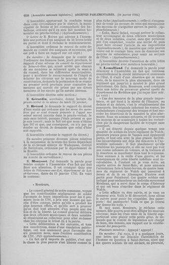 Tome 37 : Du 2 au 28 janvier 1792 - page 608
