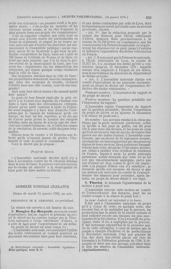 Tome 37 : Du 2 au 28 janvier 1792 - page 633