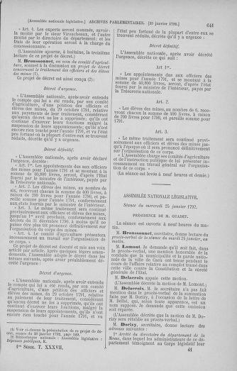 Tome 37 : Du 2 au 28 janvier 1792 - page 641
