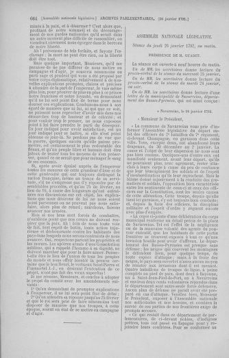 Tome 37 : Du 2 au 28 janvier 1792 - page 664
