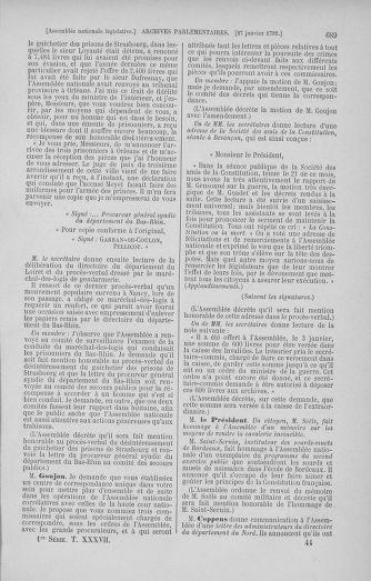Tome 37 : Du 2 au 28 janvier 1792 - page 689