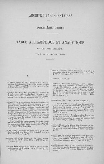 Tome 37 : Du 2 au 28 janvier 1792 - page ..